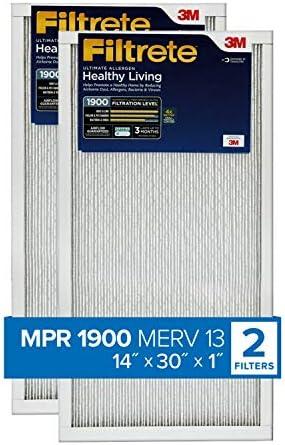 MPR 2200 12 PACK 14x30x1 MERV 13 AC Furnace Air Filters