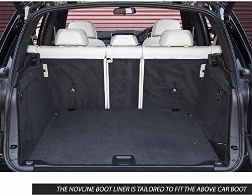 Novline adatto per BMW X5 colore nero F15 Tappeto su misura per vano bagagliaio 2013-2017