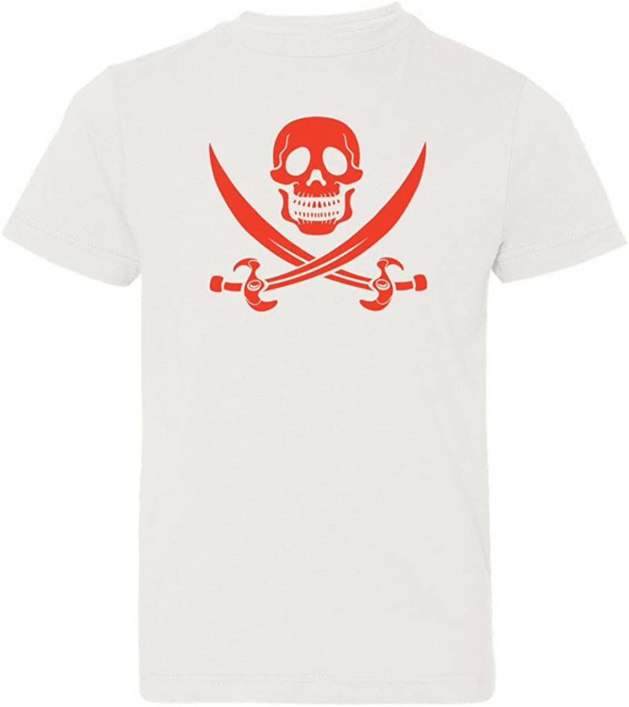 Kids T-Shirt Red Pirates /& Anchors Big Boys Skull /& Crossbones