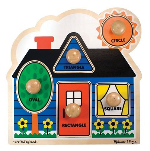 Melissa & Doug 2053 Shapes Knob Wooden Puzzle