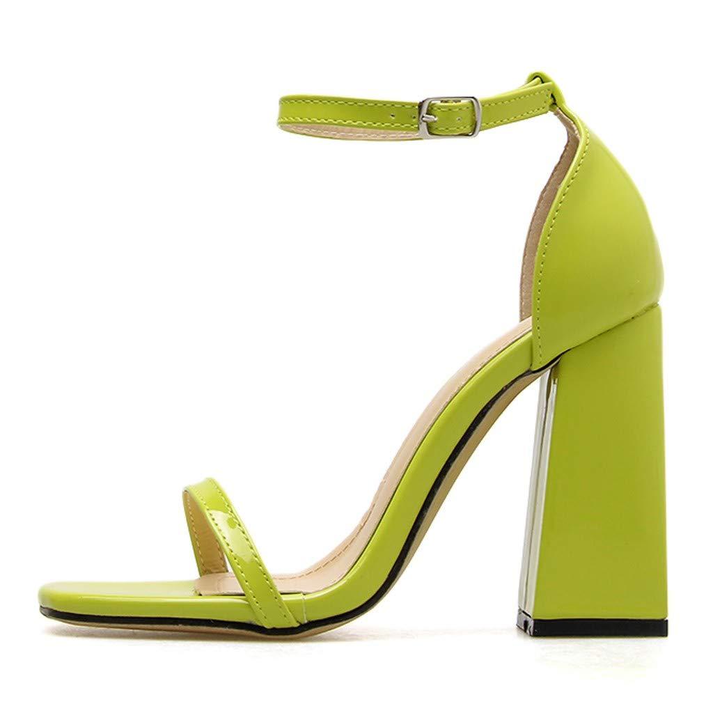 3e4aef45610 Amazon.com: Copercn Women's Ladies Bright Color Patent Leather Thin ...