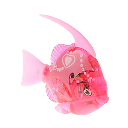 Amazon.com: MagiDeal Swimming Robot Fish Robotic Fish Activated in Water Electric Fish Battery Powered Kids Water Bath Toy Electronic Pet Aquarium Decor ...