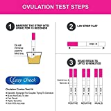 Easy Check Ovulation and Pregnancy Test Strips Kit - 99% Accurate FDA Approved Standards Ovulation and Pregnancy Predictor Kit, LH HCG Test Strips (50 pcs LH Test Strips + 10 pcs HCG Test Strips)