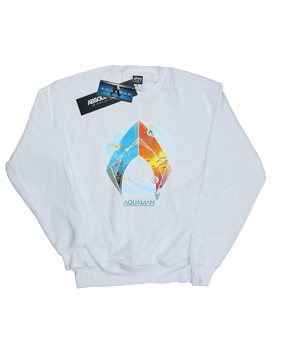 DC Comics Girls Aquaman Tropical Logo Sweatshirt