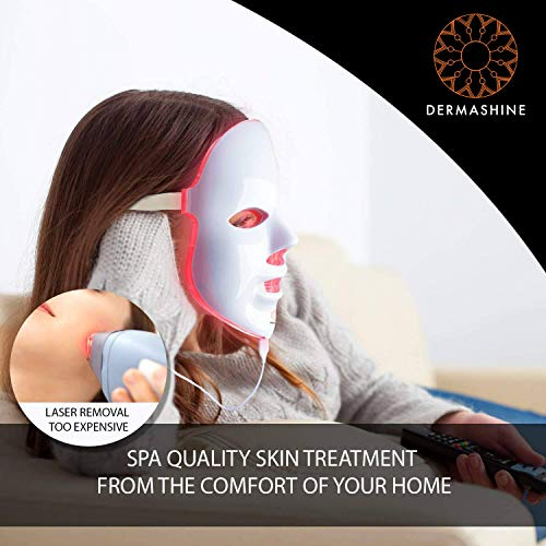 Dermashine Pro 7 Color LED Face Mask | Photon Red Light Therapy For Healthy Skin Rejuvenation | Collagen, Anti Aging, Wrinkles, Scarring | Korean Skin Care, Facial Skin Care Mask by Dermashine (Image #3)