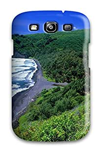5859884K44156225 Protection Case For Galaxy S3 / Case Cover For Galaxy(pololu Valley Hawaii)
