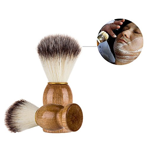 SMTSMT Men Shaving Bear Brush Best Badger Hair Shave Wood Handle Razor Barber Tool