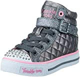 Skechers Kids Shuffles Sweetheart Sole (Little Kid),Gunmetal Quilt,11 M US Little Kid