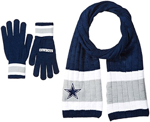 NFL Dallas Cowboys Adult Scarf & Glove Gift Set, One Size, (Cowboy Gloves)