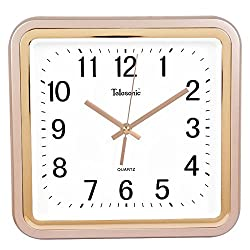 Quietness @ Modern Colorful Creative Silent Non-ticking Wall Clock Square /10 inch/-3 champagne color