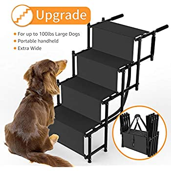Amazon Com Pet Loader Dog Stairs Light 16 Quot 5 Step With