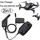Inverlee 2 in1 USB Car Charger Remote Control Battery Charger For DJI Mavic AIR Drone (Black)