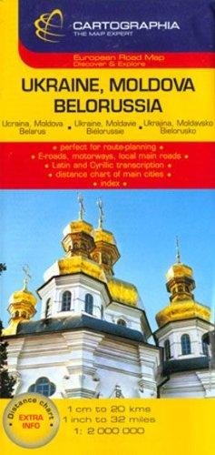 Ukraine, Moldova, Belarus (Cartographia Country Maps) (French, English and German Edition)