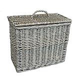 Rectangular Toilet Tidy Lidded Basket