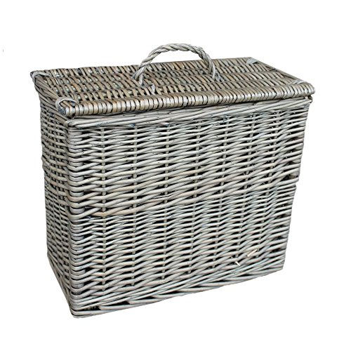 Rectangular Toilet Tidy Lidded Basket by Red Hamper