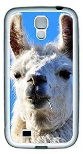 Samsung Galaxy S4 I9500 Case Llama Interesting DIY Rubber White Best Designed