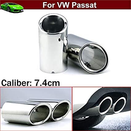 2 tubos de extensión de acero inoxidable para coche, tubo de ...