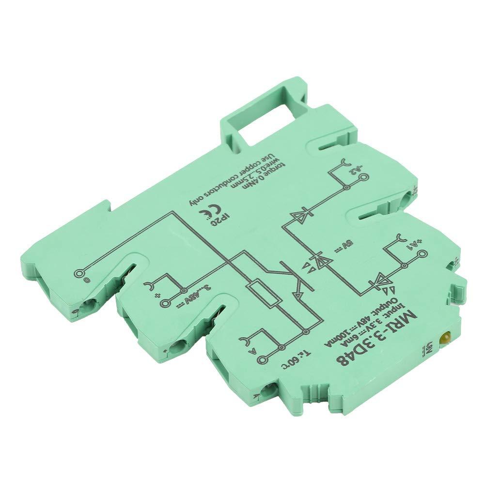 entrada 3.3VDC Salida 3-48VDC MRI-3.3D48 Acoplador fotoel/éctrico DC de aislamiento M/ódulo de rel/é PLC M/ódulo de rel/é PLC de aislamiento del acoplador