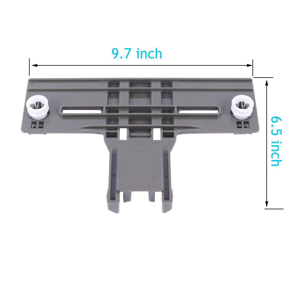 ALXEH Redesigned W10350376 Dishwasher Upper Top Rack Adjuster Replacement Part Pack of 2 Compatible with Kenmore KitchenAid Whirlpool Dishwasher AP5272176 PS3497383 W10712394 PS10064063 AP5956100