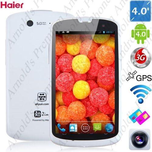 4,0 pulgadas Haier W718 IP67 impermeable a prueba de polvo a prueba de choques Android 4.0 Ice Cream Sandwich Presupuesto SmartPhone MTK6575 1.0GHz 3G WIFI 5MP cámara dual (Negro, blanco): Amazon.es: Electrónica