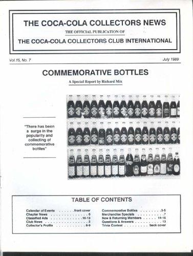 (COCA-COLA Collectors News Commemorative Bottles 7 1989)