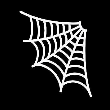 Corner Spider Web VINYL DECAL Halloween horror STICKER decoration October