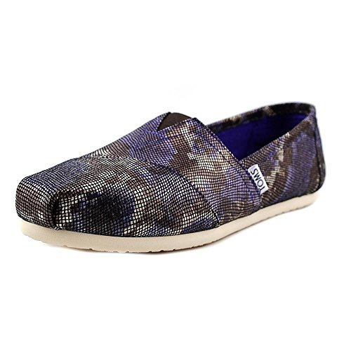 Toms Classic Women Us 6.5 Blue Loafer Uk 4.5 Eu 37