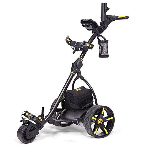 Bat-Caddy X3 Electric Push Cart w/ Free Accessory Kit, Black, 35Ah SLA -