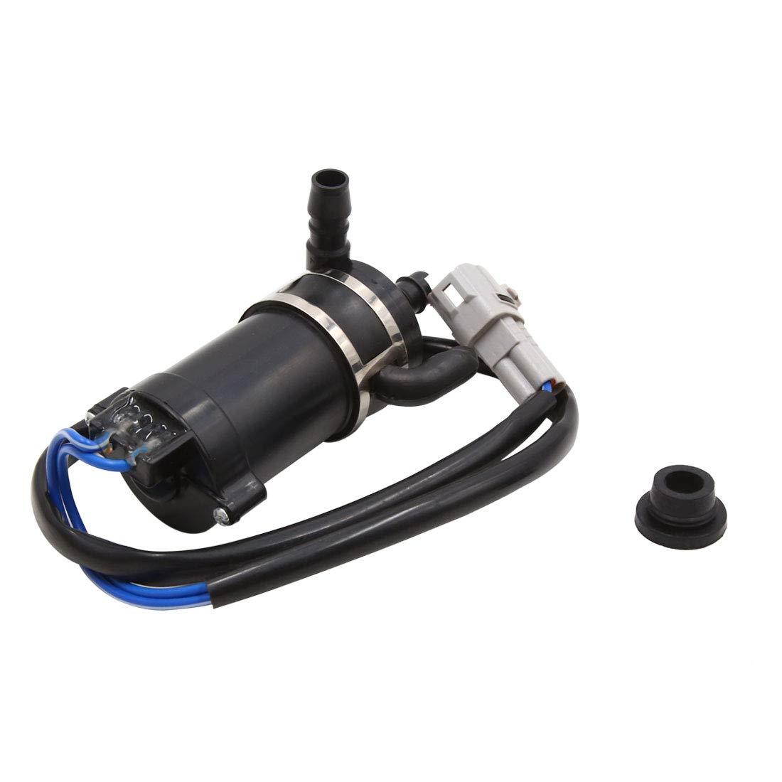 uxcell Plasitc Windshield Wiper Washer Fluid Pump w Grommet for Mitsubishi Pajero