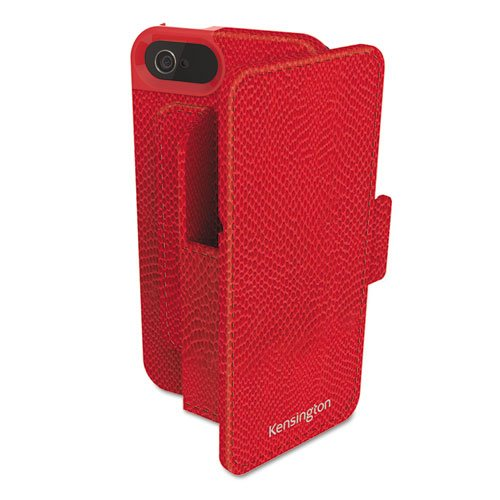 Portafolio Duo - Kensington Portafolio Duo Wallet for iPhone 5, Red
