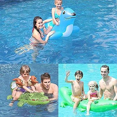 Qazxsw Piscina Inflable Piscina para niños Cama Flotante Inflable Piscina de cocodrilo Inflable Gigante Flotador Salón reclinable Flotante: Amazon.es: Deportes y aire libre