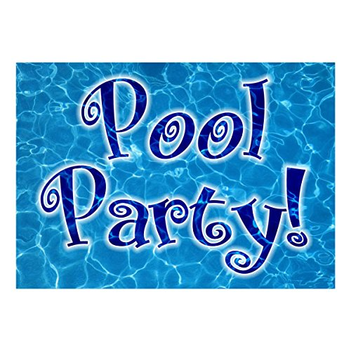 Kids Birthday Invitations - Swimming Pool Party - Pack of 10 ...