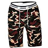 Mikkar Mens Camouflag Shorts Swim Trunks Quick Dry Sport Beach Surfing Water Pants