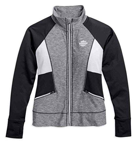 Harley-Davidson Women's Performance Infrared Activewear Jacket, Gray 96066-17VW