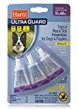 HARTZ UltraGuard Flea & Tick Drops for Dogs & Puppies 31-60lbs - 3 Monthly Treatment