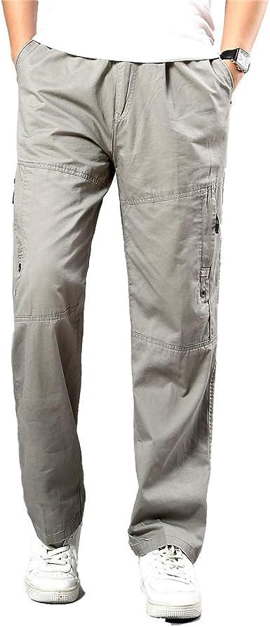 Oukeep Pantalones De Chándal De Bolsillo Suelto para Hombres ...