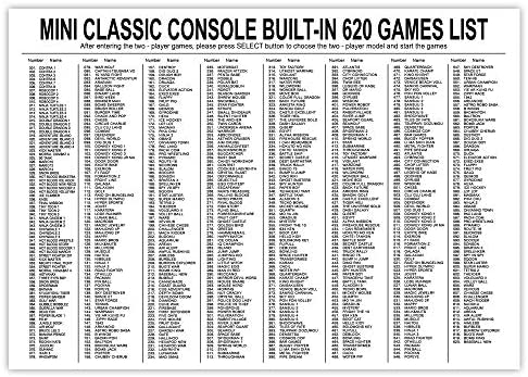 (2021 Newest!) Classic Mini Retro Game Console with Built-in 620 Games and a pair of NES Classic Controllers, AV Output Video Games for Kids, Children Gift, Birthday Gift Happy Childhood Memories