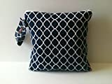 Wet Bag, Cloth Diaper Wet Bag, Wet dry Bag, Diaper Keeper, Navy Lattice wet bag, Baby Gift