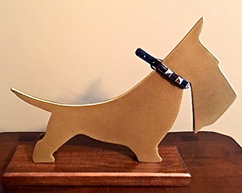 (Linebreaker Gorgeous, Funny, Rare Scottish Terrier Metal Sculpture Inspired by Carl Auböck. Office/Home Decor. 12.5 x 9 x 3