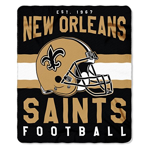 NFL New Orleans Saints Singular 50-inch by 60-inch Printed Fleece (Team Throw)