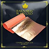 Genuine Copper Leaf Sheets - by Barnabas Blattgold - 25 Sheets - 5.5 inches Booklet - Loose Leaf