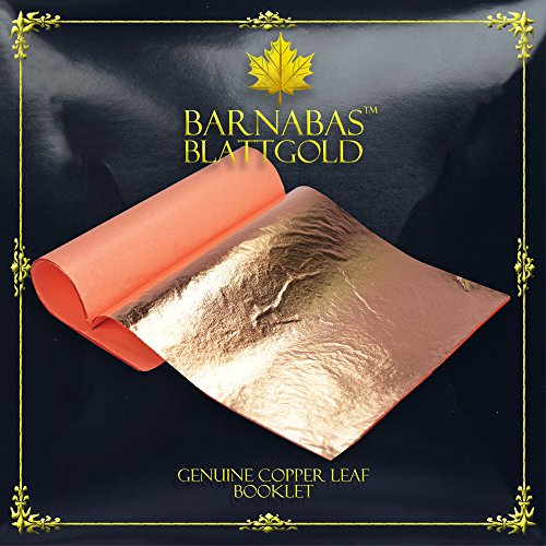 Genuine Copper Leaf Sheets - by Barnabas Blattgold - 25 Sheets - 5.5 inches Booklet - Loose Leaf from BARNABAS BLATTGOLD