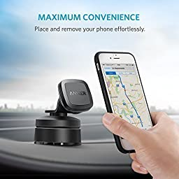 Anker Dashboard Magnetic Car Mount, Phone Holder for iPhone 7 / 7 plus / 6 / 6s / 6 Plus/ 6s Plus, Samsung, LG, Nexus, Moto, HTC, Sony, and Other Smartphones (Black)