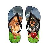CafePress Tig LIL hearts Clouds16x16 copy - Flip Flops, Funny Thong Sandals, Beach Sandals