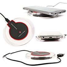 Ultra Sleek Wireless Charging Pad With LED Lighting - Compatible With the Parrot Zik 3.0 Headphones - by DURAGADGET