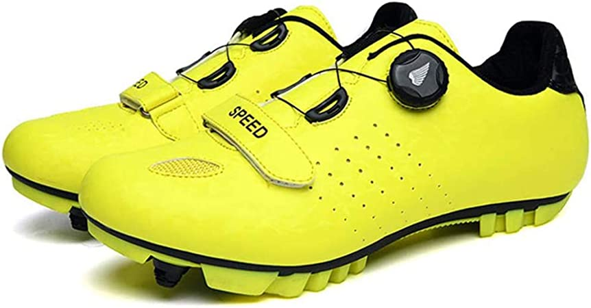 WangT Zapatillas De Ciclismo Zapatillas De Ciclismo SPD Zapatillas De Ciclismo para Hombre Bicicleta De Carretera Zapatillas De MTB,Yellow-43EU: Amazon.es: Hogar
