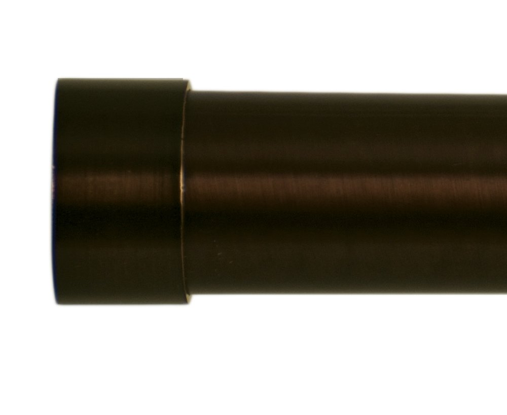 Home Decor Int'l HDI Plain End Caps, Oil Rubbed Bronze, Set of 2