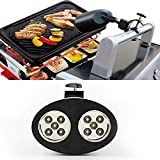 Alotm Barbecue Grill Light, Outdoor LED Barbecue Lamp with 10 LED Lights Handle Bar Mount Fully Adjustable - Easy to Install - Touch Sensitive Switch - Battery Operated - No Tools Required
