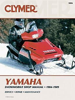 clymer yamaha snowmobile shop manual 1984 1989 service repair rh amazon com Clymer Manuals XL75 Clymer Manuals Review