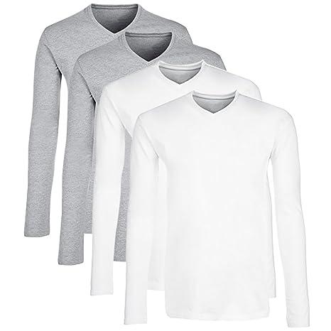 newest 9291e ca063 TAIPOVE Maglietta Uomo a Manica Lunga T-Shirt di Cotone ...
